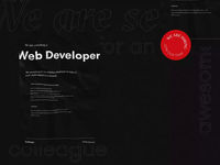 Recruiting microsite — teaser animation