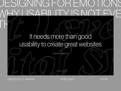 Emotional Design — Presentation Slides editorial animation slides keynote presentation design art direction webdesign grid layout typography