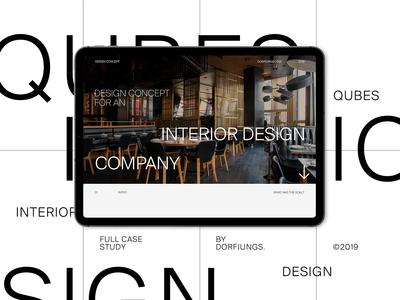 Interior Design Agency Portfolio Website - Case Study interior case study editorial behance clean minimalist portfolio art direction grid webdesign typography layout interior designer architecture furniture