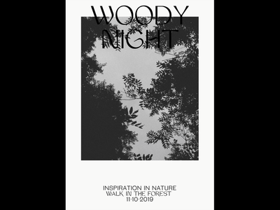 Nature Poster — 001 photography forest nature poster editorial art direction layout grid typography