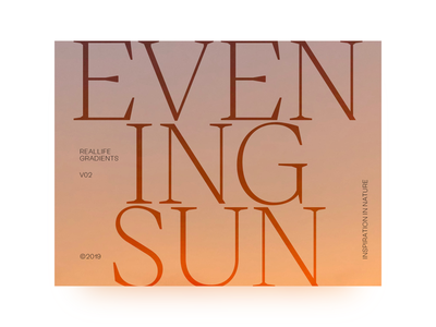 Layout & Type Exploration — Inspiration in Nature V01 typography grid layout art direction gradient nature design editorial light photography sky