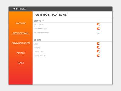 daily ui 007 settings menu by jay ballard dribbble