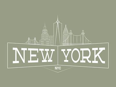Nyc Dribbble nyc new york city skyline metro