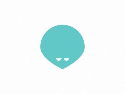 gazulos icon light blue alien logo self identity