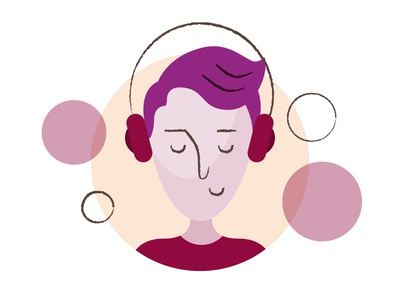 Mood Today vector illustration jamming music headphones