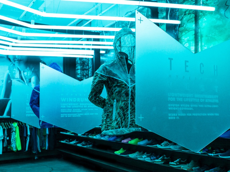 Nike Tech Hyperfuse @ Blends Beverly hills apparel branding typography nike retail design