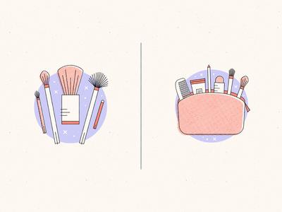 Makeup, bags & tools