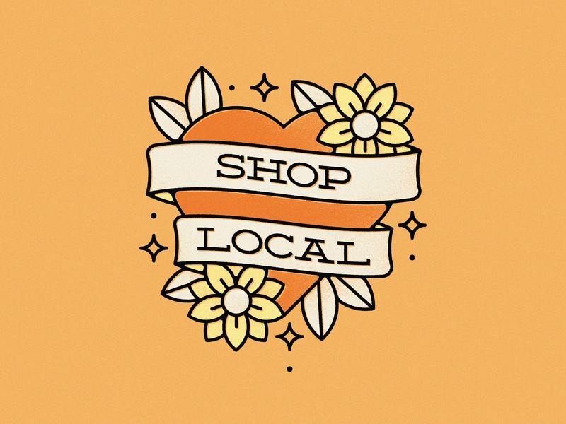 Support your local businesses covid-19 covid flower tattoo heart support local business local