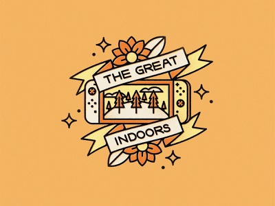 The Great Indoors nintendo covid-19 covid tattoo banner animal crossing switch video game videogame indoors