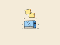 toast breakfast gif bread animated icon toaster toast