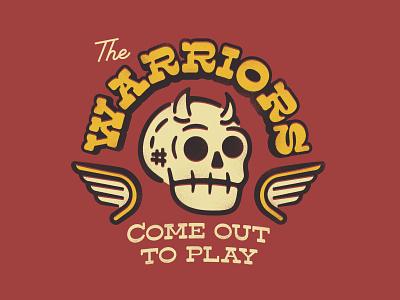 The Warriors retro horns skull classic movie warriors