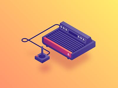 Atari pacman isometric console game video atari