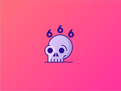666 Followers 666 follower icon skull