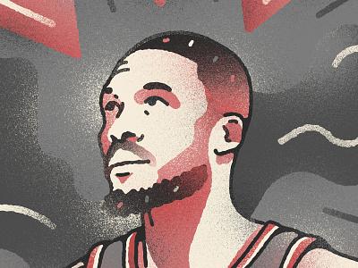 Damian Lillard portrait basketball trail blazers portland damian lillard nba