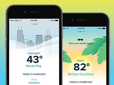 Daily UI 037 | Weather App mobile illustration 037 app weather dailyui dailyui037