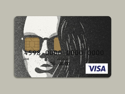 Stencil portrait—Credit Card Design pt. 2 sunglasses portrait street art stencil portrait stencil illustration woman stencil fashion stencil face stencil credit card design idea credit card design creative credit card bank card