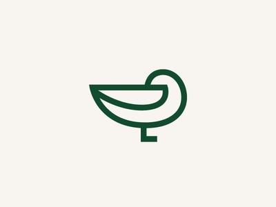 Sleepy Duck duckie single line duck duck mark duck logo animal logo rest sleep duck