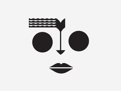 Face I pattern tribal eyes lips face arrow geometry mask