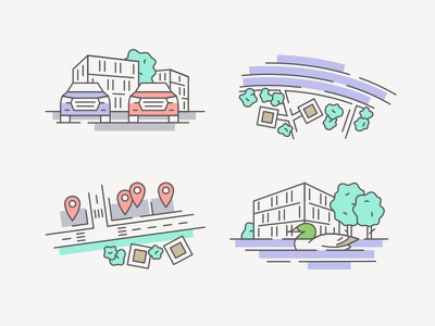 Victory Port Pt. 1 city icon car icon car nature house illustration tree park river duck icon set house