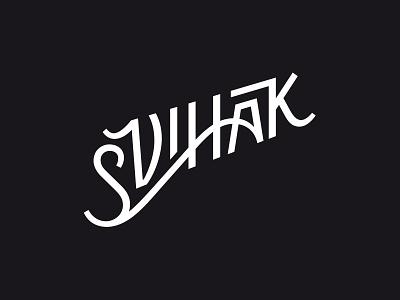 Svihak Lettering handwriting custom lettering typography logotype ligature handmade lettering