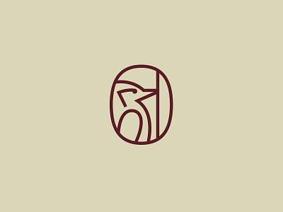 Woodpecker ver. 1 line logo bird icon bird logo carpenter woodworking wood animal icon animal woodpecker