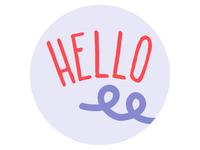Hello Curly Hair Care Product Submark Logo Design