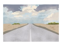Scenic Route Digital Painting
