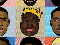 Rap Heads Grid