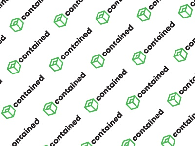 Contained Pattern contained tissue box green pattern design logos logodesign assets pattern logo