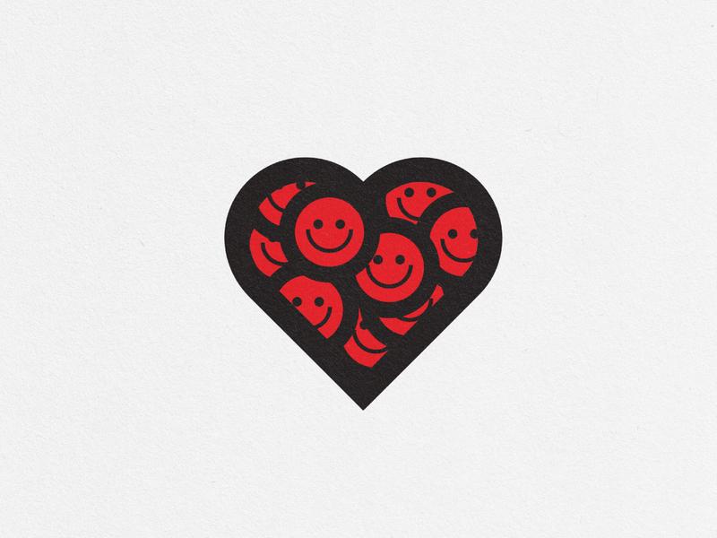 happylove bold design heart logo happy smile red smiley face smileys smiley love heart