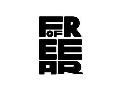 Free Of Fear blacklivesmatter letters black and white fear free type exploration type experiment custom type type