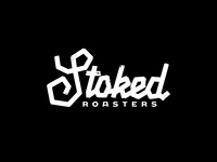 Alternative Stoked Branding coffeehouse roasters coffee brand coffee lettering brand branding design letters black and white bold type stoked roasters stoked hand made handmade hand type hand lettering