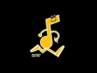 Music Note Final illustration black yellow stride music note music app music logo design brand design icon design character design logo brand icon character