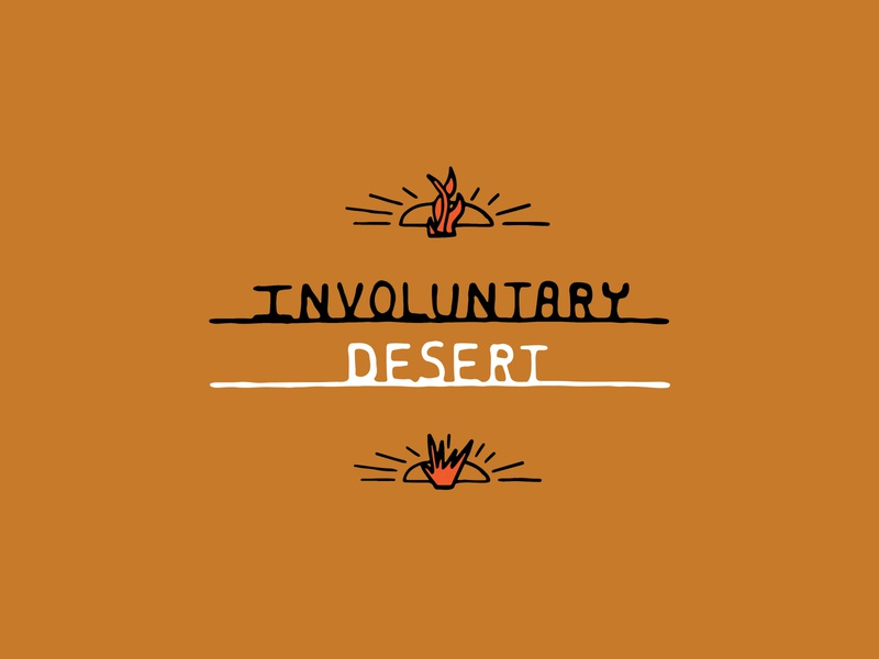 Involuntary Desert brand simple design handmade hand drawn illustration plant type desert