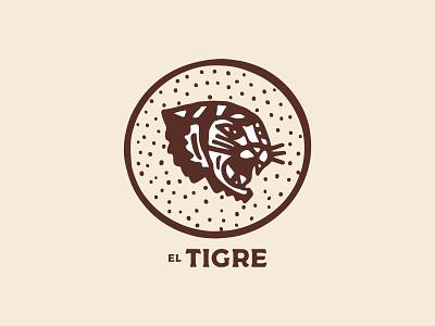 El Tigre identity branding brand design brand texture dots circle badge circle tiger logo logo design badge design badge logo badge art illustration tiger el tigre