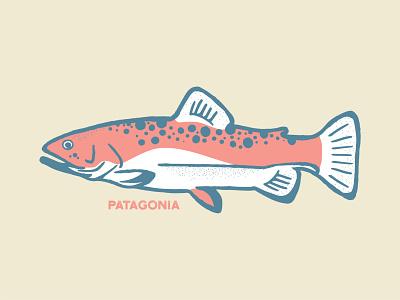 Patagonia Fish fish illustration fly fishing hand drawn color design texture fishing illustration fish patagonia