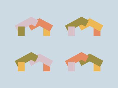 Colorful Bits orange yellow pink green blue vector branding concept colors shape elements color blocks colorful minimal design modern color shapes shape