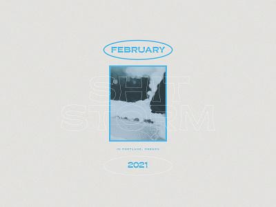 februarY layout icy ice blue minimal design photo february type