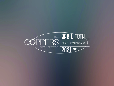 thecoppers logo design marriage holy matrimony type layout type lockup badge design gradient design lockup layout type badge wedding
