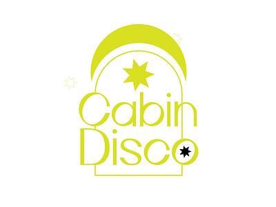 Cabin Disco 01 brand gig moon star line design simple arch disco cabin