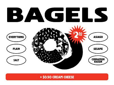 STOKED® Bagels drawing textures design sign illustration handmade handdrawn texture bagel badge bagels