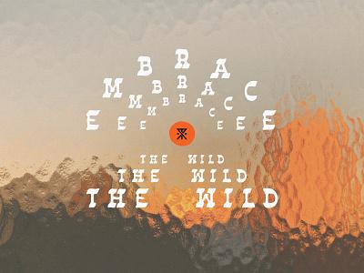 Embrace The Wild logo texture sunset sun arch idlehands design contest roark badge design kernclub type