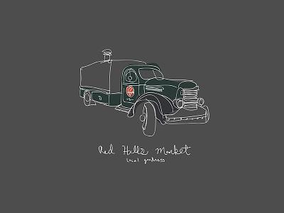 RHM Truck design gestural illustration truck