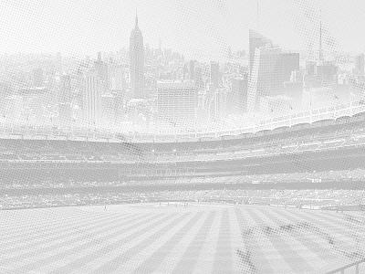 Yankee Stadium + Texture dots halftone new york city nyc yankee stadium yankees new york design texture