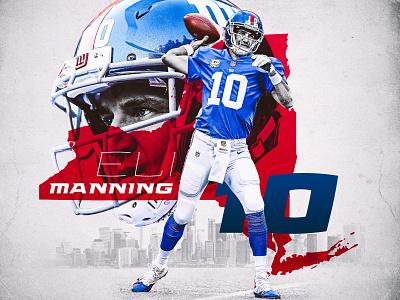Eli Manning Graphic quarterback sports design new york giants new york giants football