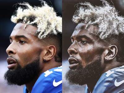 Before and After OBJ Photo Editing lightroom new york giants sports obj photography photo editing