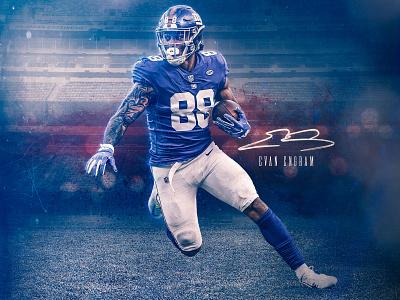 Evan Engram nfl sports design new york giants giants football