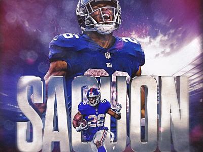 Saquon Barkley new york giants football sports design penn state nfl