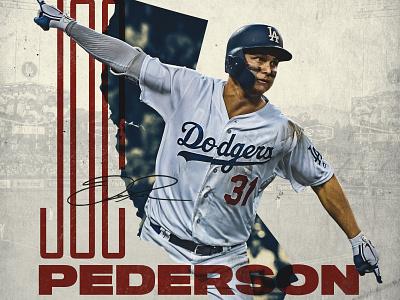 Joc Pederson mlb sports baseball sports design world series dodgers