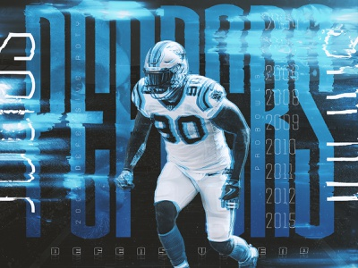 Julius Peppers fontaid glitch athlete nfl carolina panthers football sports design panthers